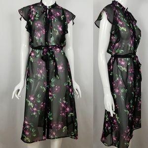 Express Sheer Floral Dress